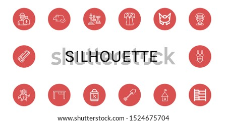 silhouette icon set collection