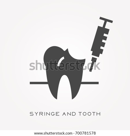 silhouette icon syringe and