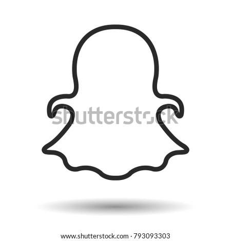 Silhouette icon. Vector illustration.