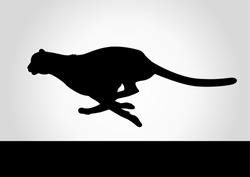 Silhouette illustration of a cheetah