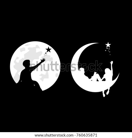 silhouette logo people at the