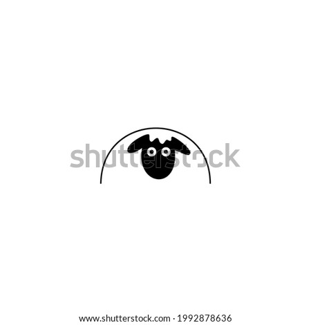 Silhouette logo woolly sheep, Friendly sheep characters