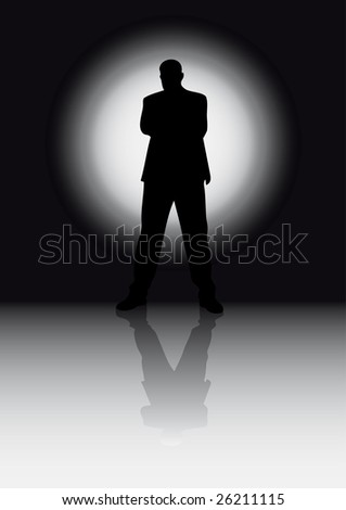 Silhouette man - stock vector