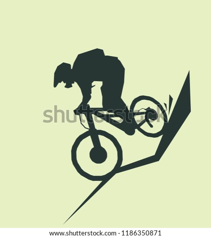 silhouette mountain bike sport