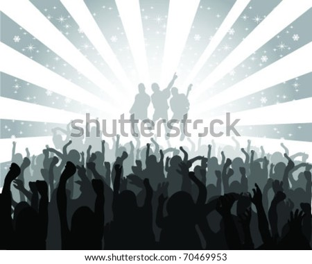 silhouette musical concert with the solemn background, vector