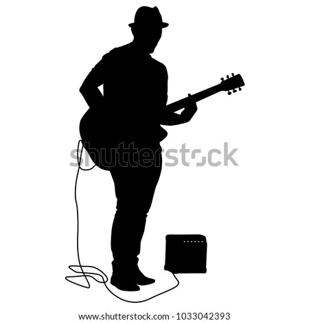 silhouette musician plays the