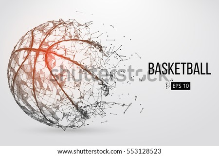 silhouette of a basketball ball