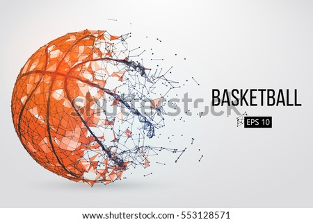 stock-vector-silhouette-of-a-basketball-ball-dots-lines-triangles-text-color-effects-and-background-on-a