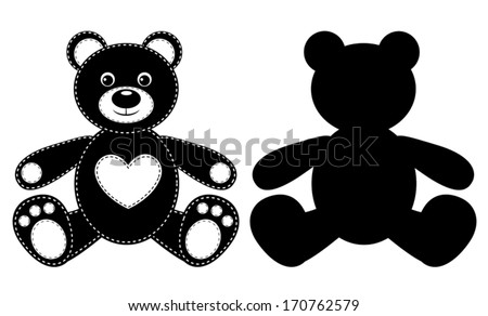 silhouette of a bear vector