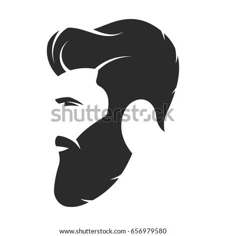 The Logo Man Beard Black Emblem Decal Car Bike Sticker Stickers