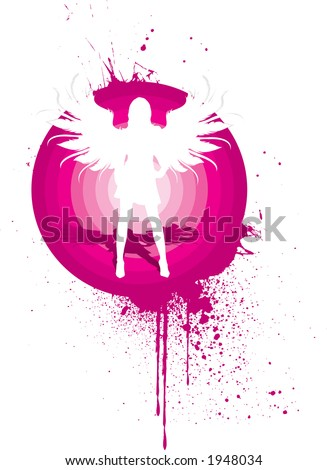 silhouette of a beautiful with