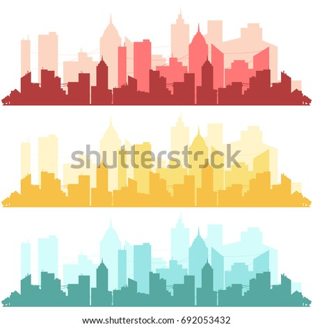 silhouette of a big city on a