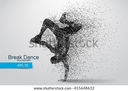 silhouette of a break dancer