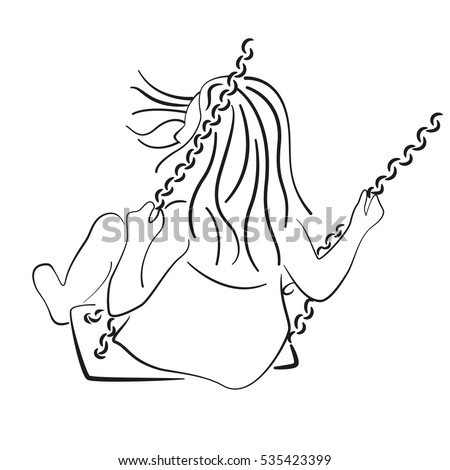 stock-vector-silhouette-of-a-child-riding-a-swing