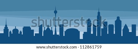 silhouette of a city (city silhouette)