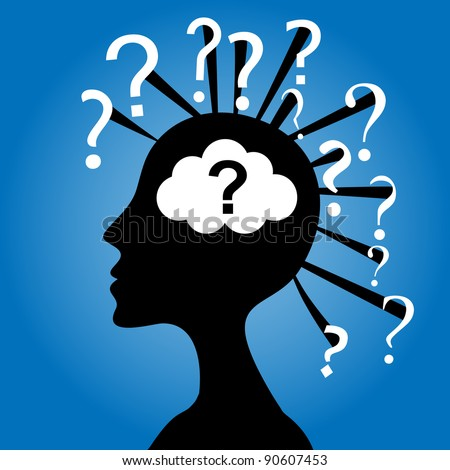 Silhouette Of A Curious Head. Stock Vector 90607453 : Shutterstock