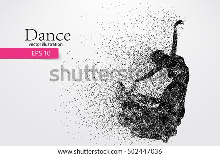 silhouette of a dancing girl of