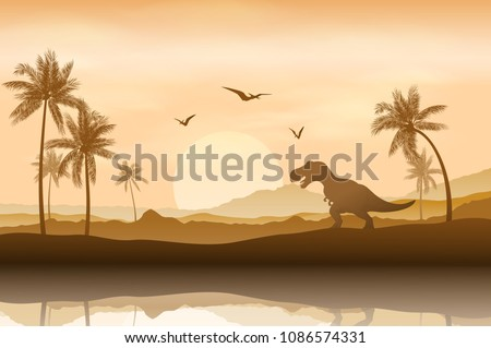 silhouette of a dinosaur in