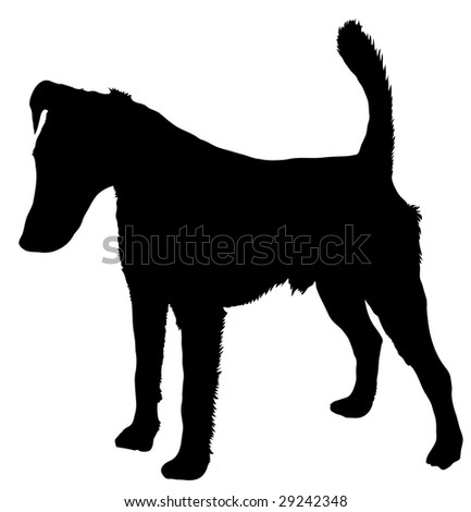 silhouette of a dog of breed