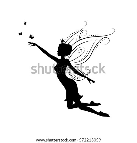 silhouette of a fairy template