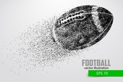 silhouette of a football ball from particle. Background and text on a separate layer, color can be changed in one click. Similar vector can be found in the portfolio. Thank you for watching