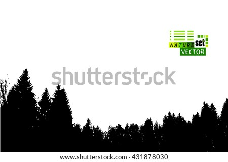 silhouette of a forest of trees