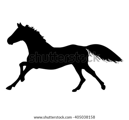 silhouette of a galloping horse
