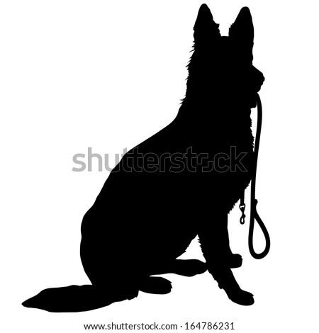 silhouette of a german shepherd