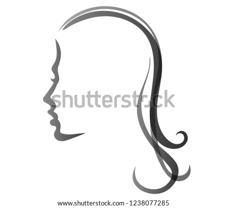 silhouette of a girl's face