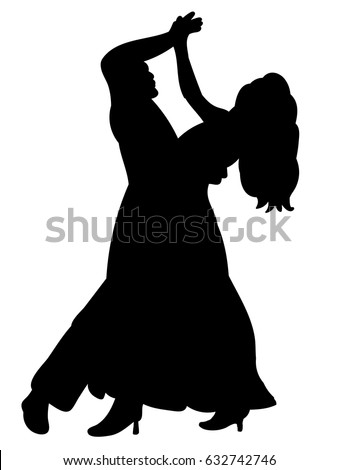 silhouette of a guy and a girl