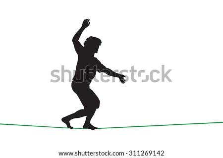 silhouette of a guy walking on