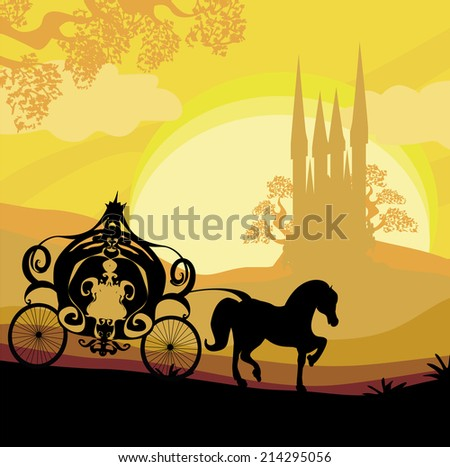 silhouette of a horse carriage