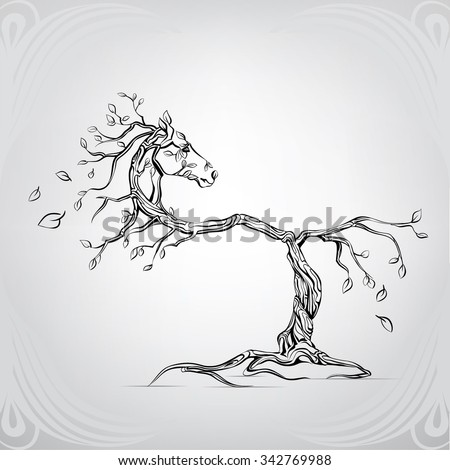 silhouette of a horse from a
