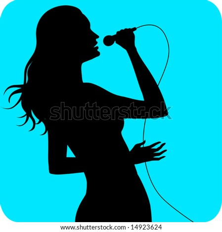 silhouette of a lady singing