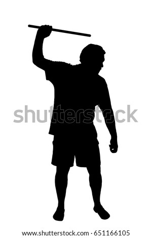 silhouette of a man applying