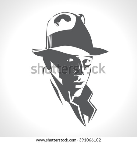 silhouette of a man in a hat