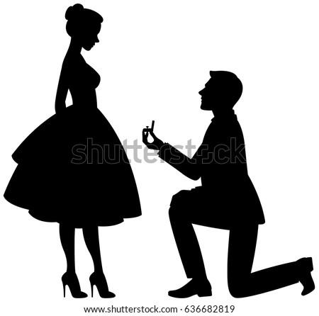 Marriage Proposal Vector Download Free Vector Art Stock Graphics
