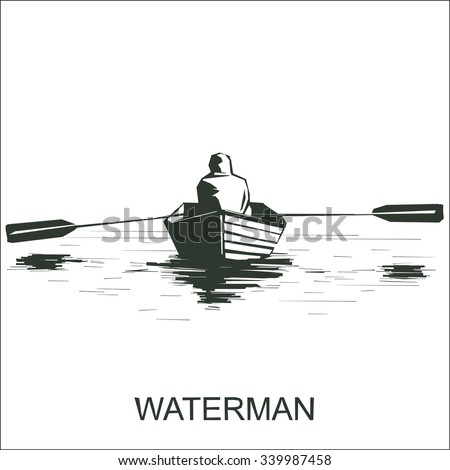 silhouette of a man on boat