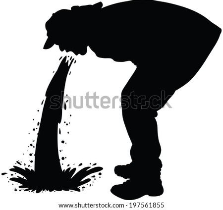 http://image.shutterstock.com/display_pic_with_logo/776008/197561855/stock-vector-silhouette-of-a-man-releasing-a-large-stream-of-vomit-197561855.jpg