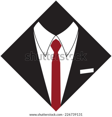 silhouette of a man suit and