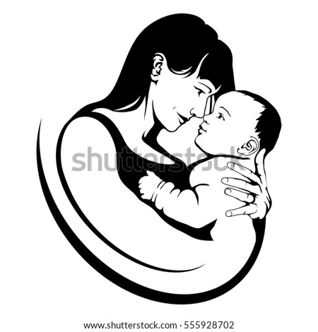 Vector Images Illustrations And Cliparts Silhouette Of A Mother
