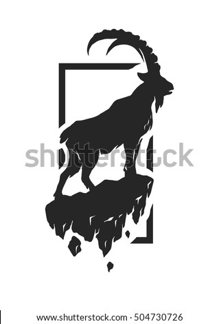 silhouette of a mountain goat