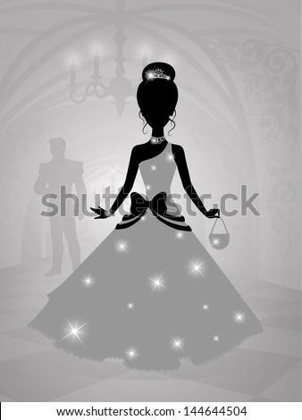 silhouette of a princess in