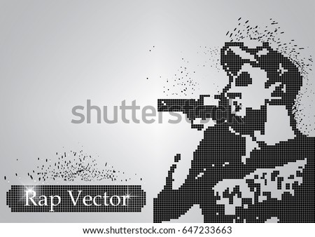 silhouette of a rap singer from