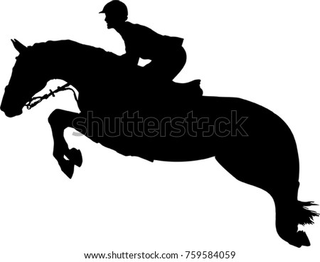 silhouette of a rider and a