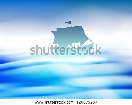 silhouette of a ship in water