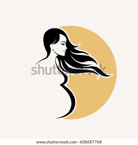 silhouette of a smiling