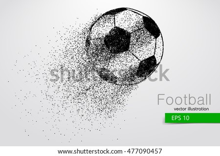 silhouette of a soccer ball