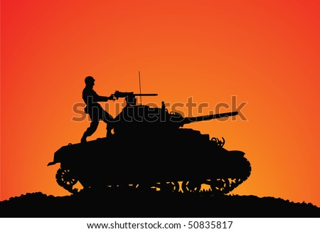 silhouette of a soldier on the