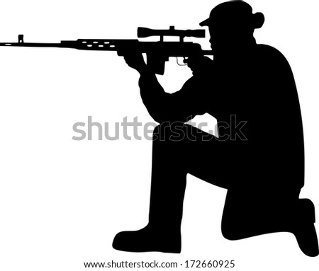 silhouette of a soldier with a